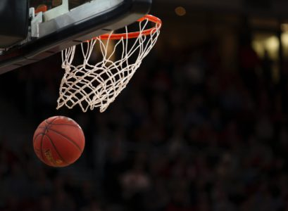 basketball hoop in basketball court